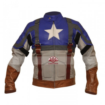 Chris Evans Captain America Leather Jacket Costume