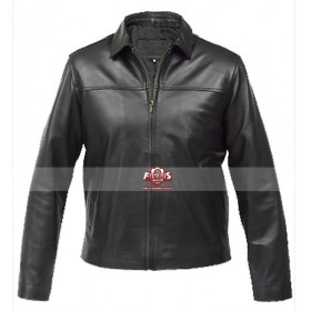 Men's Extinction Vintage Classic Black Leather Jacket