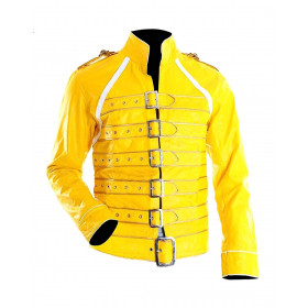 Freddie Mercury Yellow Leather Jacket