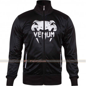 Venum Giant Grunge Track Black Leather Jacket