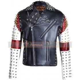 Men's Dead Mickey Mouse Brando Punk Studded Retro Jacket