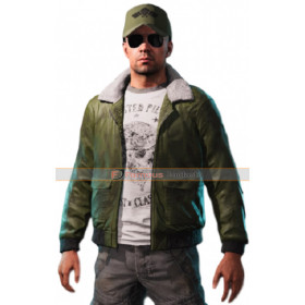 Game Mayday Far Cry 5 Green Leather Jacket