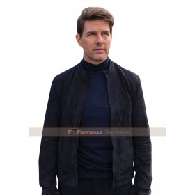 Mission Impossible Fallout Tom Cruise (Ethan Hunt) Suede Leather Jacket
