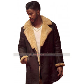Trevor Jackson SuperFly Youngblood Priest Shearling Coat