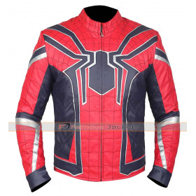 Spiderman | Avengers Infinity War Tom Holland Costume Leather Jacket
