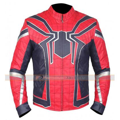 Spiderman | Avengers Infinity War Tom Holland Costume Leather Jacket