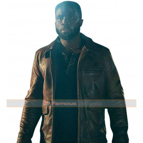 Dmitri The First Purge Y'lan Noel Brown Leather Jacket
