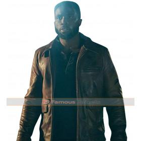 Dmitri The First Purge Y'lan Noel Brown Leather Jacket