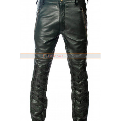 Arrow S2 Stephen Amell (Oliver Queen) Black Leather Pants