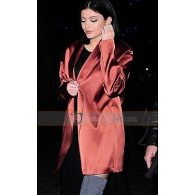 Kylie Jenner Wears Red Satin Jacket at London Eye