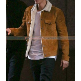 Justin Bieber Saint Laurent Shearling Leather Jacket