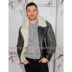 Deadpool Ed Skrein Fur Leather Jacket