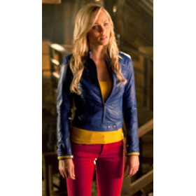 Smallville Supergirl Blue Leather Jacket Costume