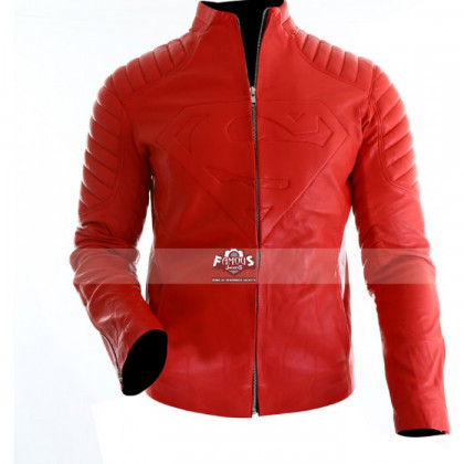 Superman Smallville Tom Welling Red Leather Jacket