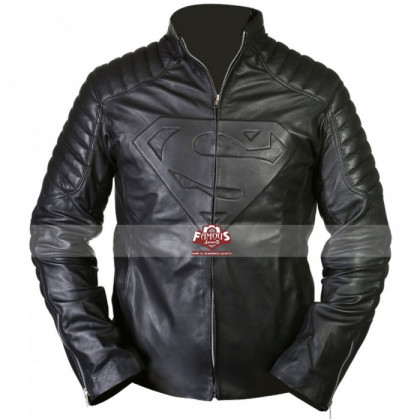 Smallville Superman Clark Kent Black Leather Jacket