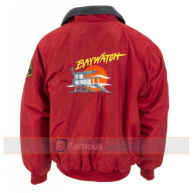 Baywatch Red Bomber Lifeguard Jacket Halloween Costume