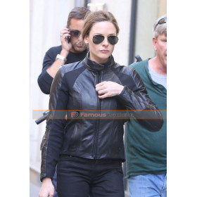 Ilsa Faust Mission Impossible 6 Black Biker Jacket