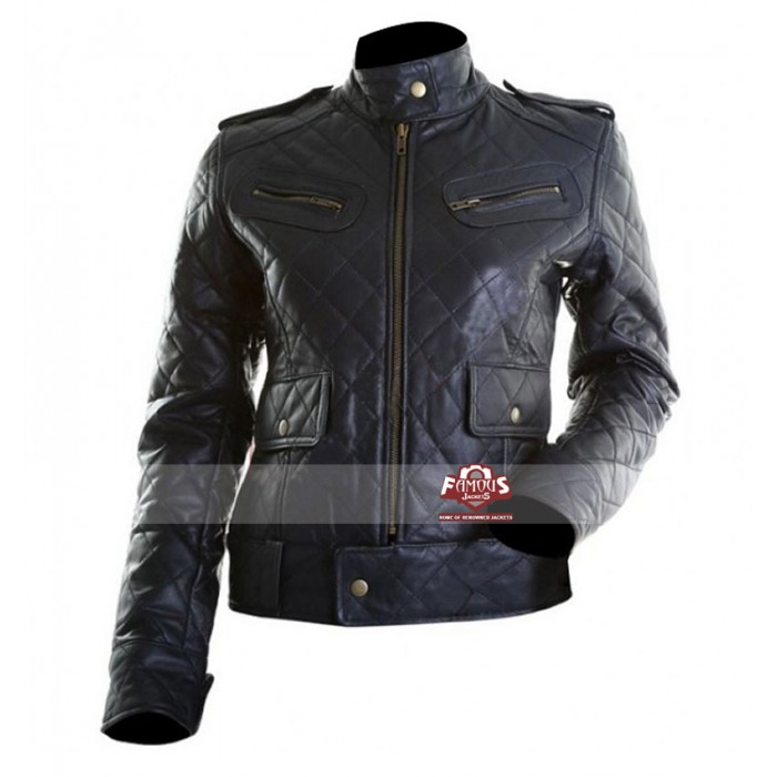 Womens black quilted jackets