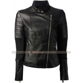 Pinko Aquilone Women Biker Leather Jacket