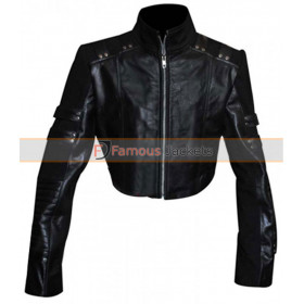 Black Canary Arrow Katie Cassidy Leather Jacket Costume