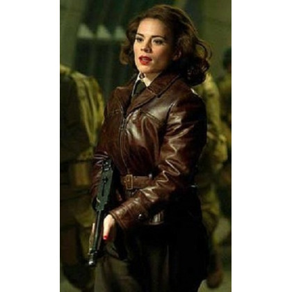 Captain America The First Avenger Peggy Carter Brown Jacket