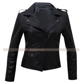Krysten Ritter Jessica Jones Black Leather Jacket