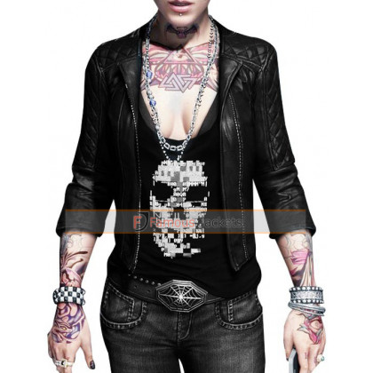 Watch Dogs Clara Lille Black Leather Jacket