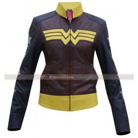Classy Wonder Woman Motorcycle Leather Jacket Costume