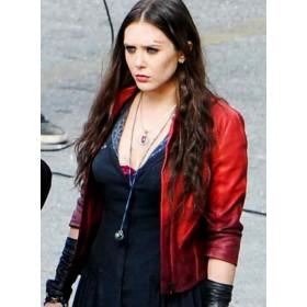 Avengers Age Of Ultron Elizabeth Olsen (Wanda Maximoff) Red Jacket