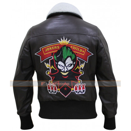 Bombshell Harley Quinn Jokers Wild Brown Jacket