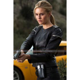 Faster Maggie Grace (Lily) Black Leather Jacket