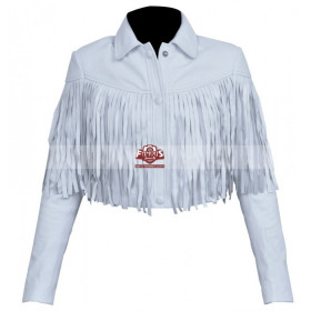 Ferris Bueller's Day Off Sloane Peterson Fringe White Jacket
