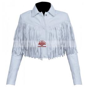 Ferris Bueller's Day Off Sloane Peterson Fringe White Jacket