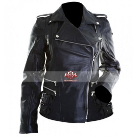 Women Brando Black Motorcycle Leather Jacket