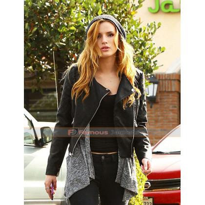 Bella Thorne Black Punk Leather Jacket