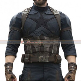 Avengers Infinity War Captain America Chris Evans Costume Jacket