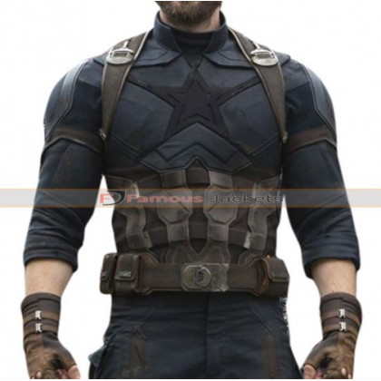 Avengers Infinity War Captain America Chris Evans Costume Jacket