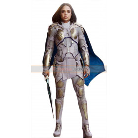 Avengers Infinity War Tessa Thompson Grey Leather Costume jacket