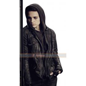 Counterpart Baldwin Sara Serraiocco Hooded Leather Jacket