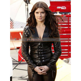 CSI 2004 The Formula Liza Grey (Danica Patrick) Leather Jacket