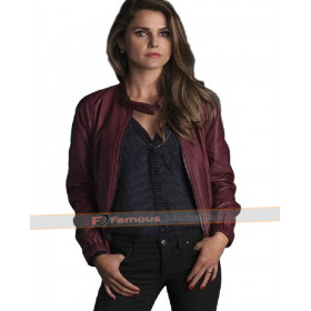 The Americans Elizabeth Jennings Keri Russell Black Leather Jacket
