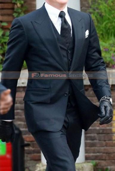 Spectre James Bond 007 Black Long Jacket Coat