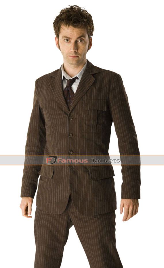 Doctor Who David Tennant Blue Pinstripe Suit