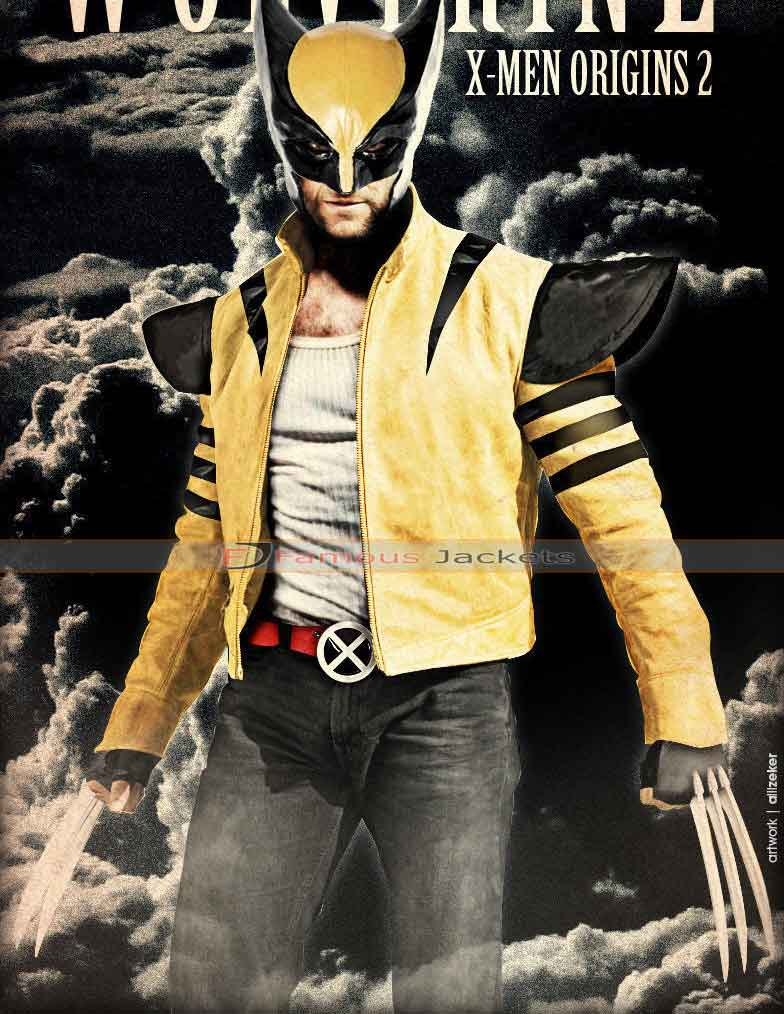 hugh jackman dons the classic wolverine jacket £ 142 add ...